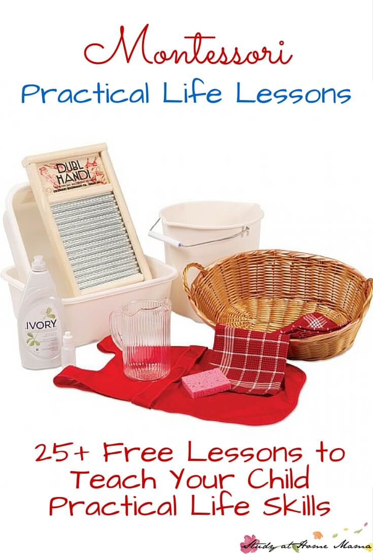 Montessori Practical Life Lessons to teach your child practical life skills