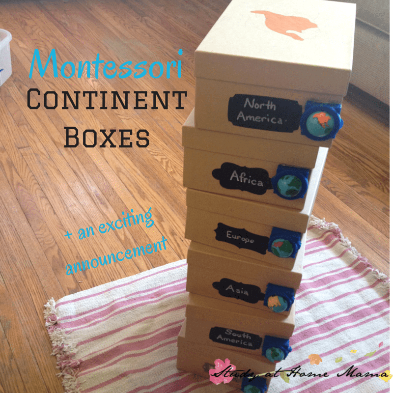 Montessori Continent Boxes + an exciting announcement!
