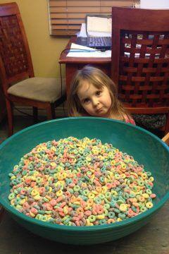 Edible Rainbow Sensory Bin for Toddlers