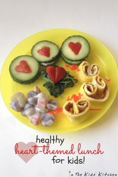 Heart-themed Lunch for Preschoolers