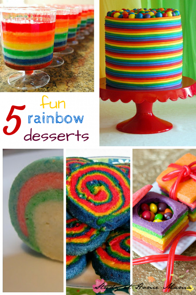 5 fun rainbow desserts - part of 50+ rainbow activities and snacks!