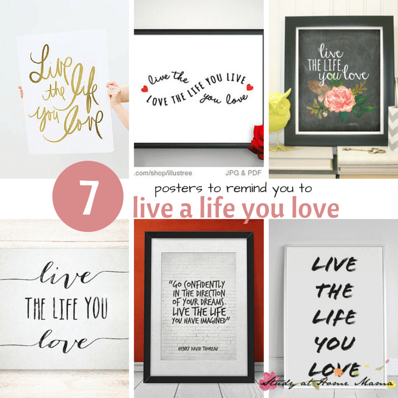 7 inspiration posters to remind you to live a life you love (PLUS 7 beautiful items, including bracelets, spoons, phone cases)