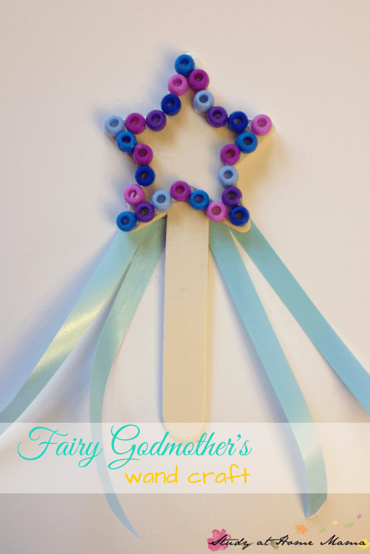 Cinderella Craft: Fairy Godmother's Wand Craft, could also be a Frozen craft for Elsa's wand