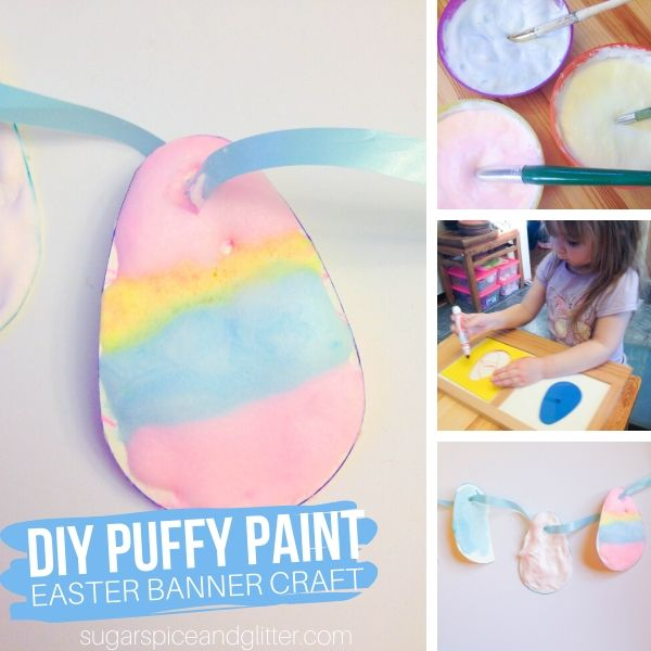 How to make a puffy Easter Egg banner with homemade puffy paint