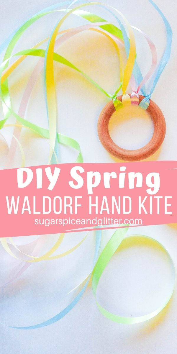 Waldorf Hand Kites are simple homemade toys that bring a bit of magic to your child's dancing and jumping about - just swap out the ribbons whenever you need a change