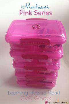 Montessori Pink Series: CVC Language Object Boxes