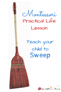 Montessori Practical Life Lesson: Sweeping