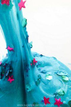 Sparkly Mermaid Slime Sensory Play