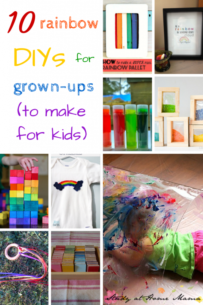 10 Rainbow DIYs for Grown-ups -- part of 50+ rainbow activities and snacks!