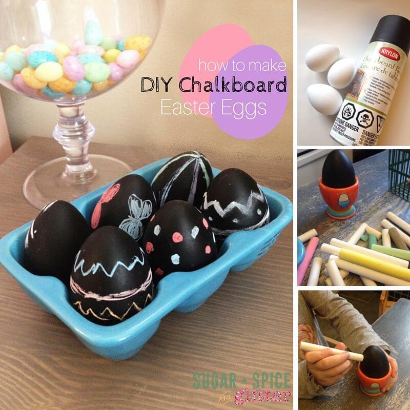Diy Chalkboard Easter Eggs ⋆ Sugar Spice And Glitter
