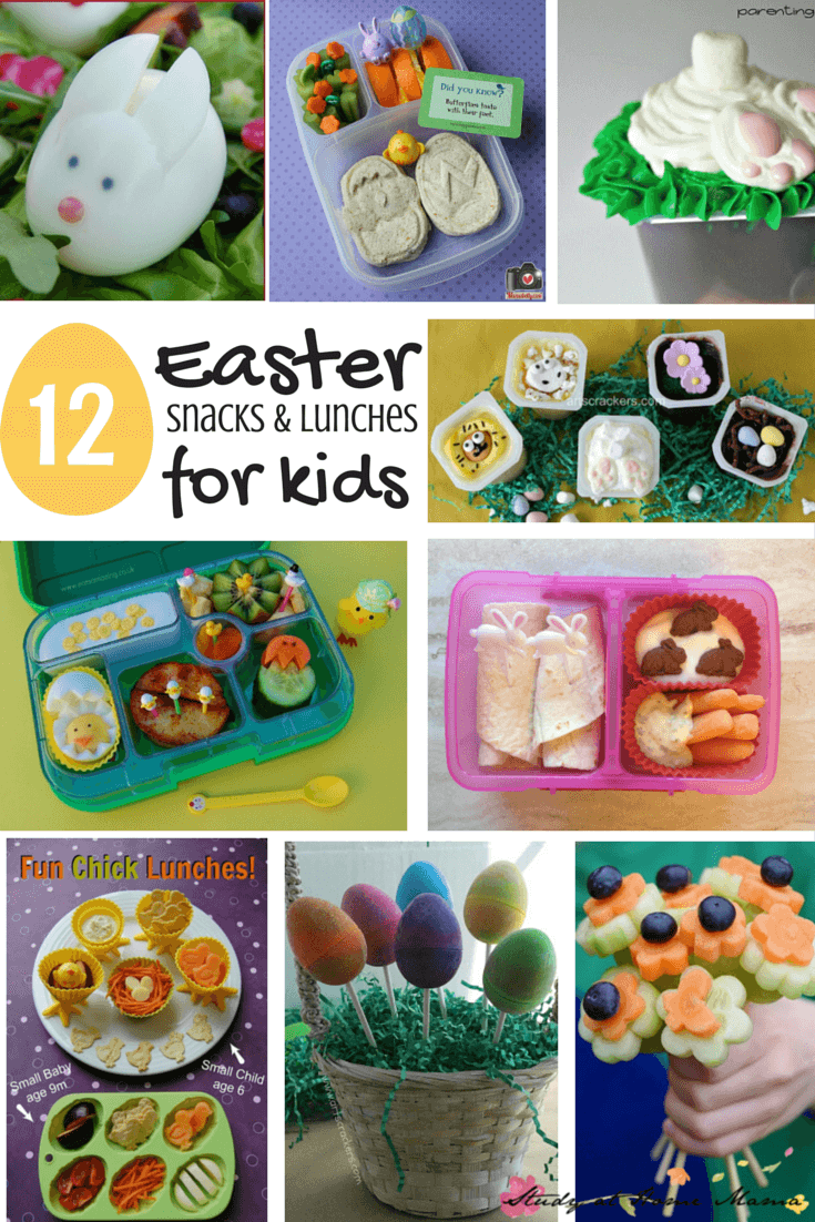 12 Easter Snacks & Lunches for Kids - including easy & healthy Easter lunch for kids, cute Easter snack ideas