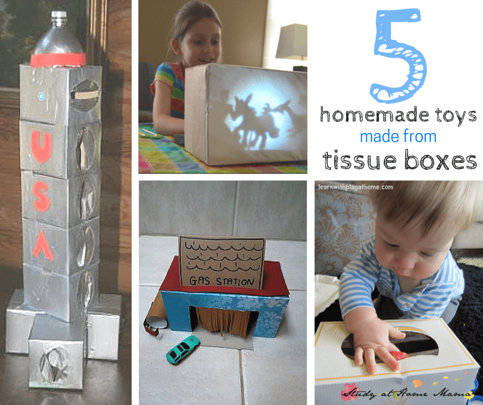 5 Homemade Toys made from Tissue Boxes