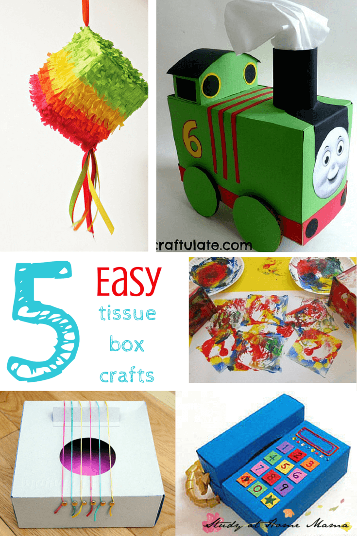 5 EASY Tissue Box Crafts for Kids