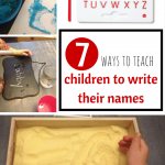 7 Ways to Teach Your Child to Write Their Names
