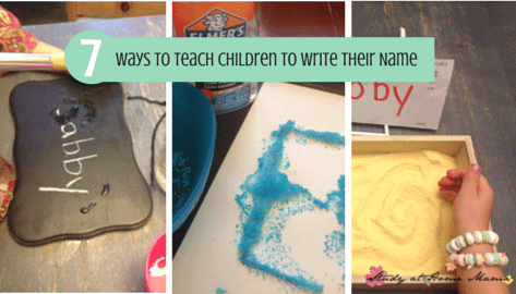 7 Ways to Teach Children to Write Their Name
