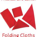 Montessori Practical Life Lesson: Folding Fabric