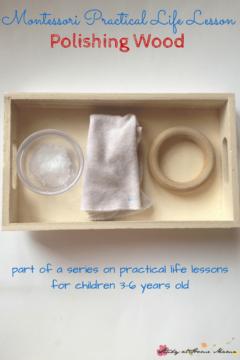 Montessori Practical Life Lesson: Polishing Wood