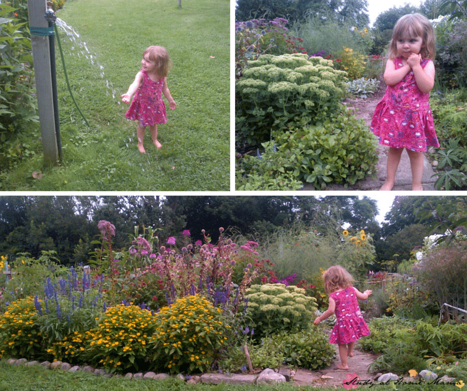 Exploring a garden as part of learning about botany for kids