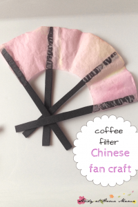 Coffee Filter Chinese Fan Craft