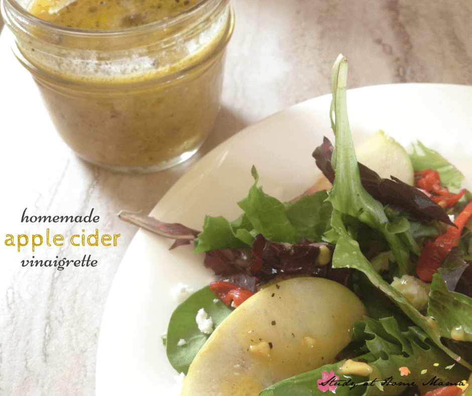 homemade apple cider vinaigrette; a natural and healthy salad dressing you can make in 2 minutes