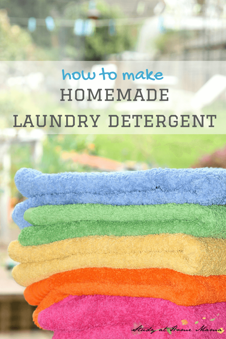 how to make Homemade Laundry Detergent for under 4 cents a load!