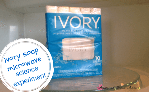 Ivory soap microwave science experiment for kids -- a great hands-on way to learn about weather! We love science experiments for kids!