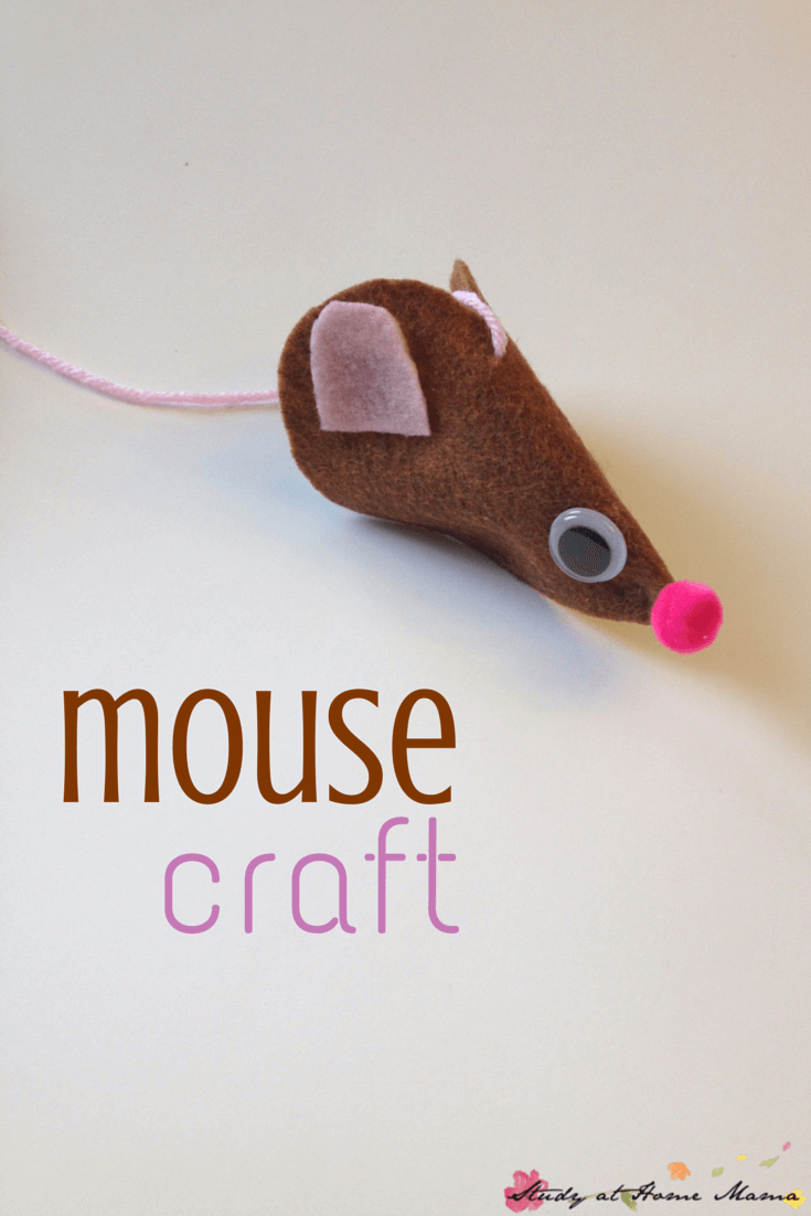 Mouse craft for Cinderella unit study