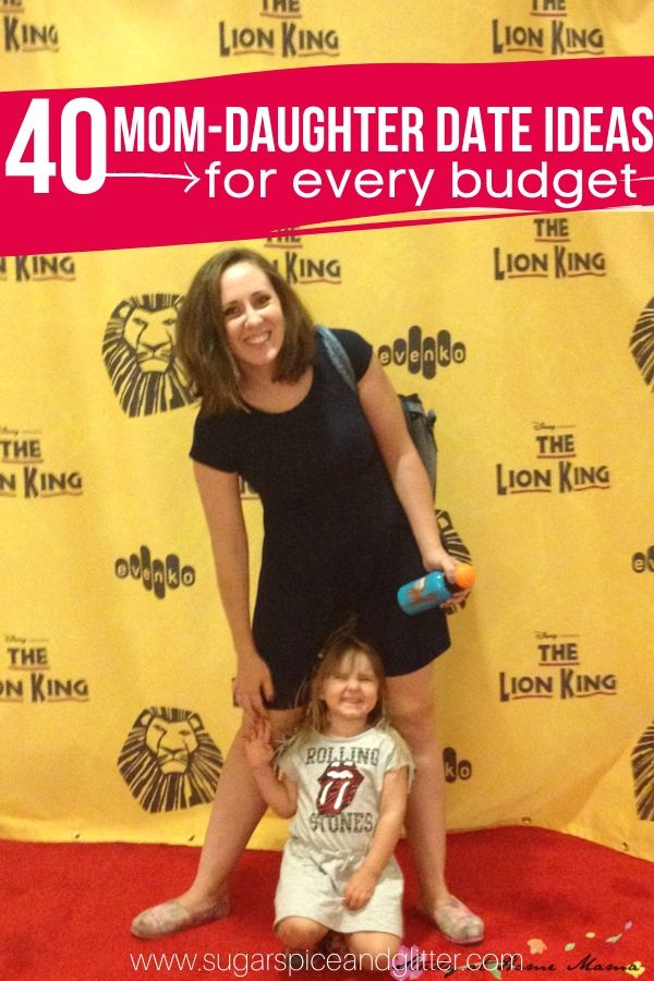 Easy Date Ideas for Mom and Daughter Quality Time - including free ideas! Print off the free printable poster and cross off ideas as you go!