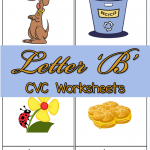 CVC Worksheets: B CVC Words