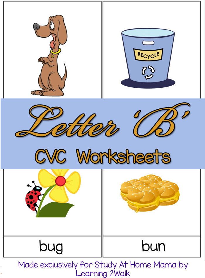 CVC WORKSHEET B CVC Words list and free worksheets