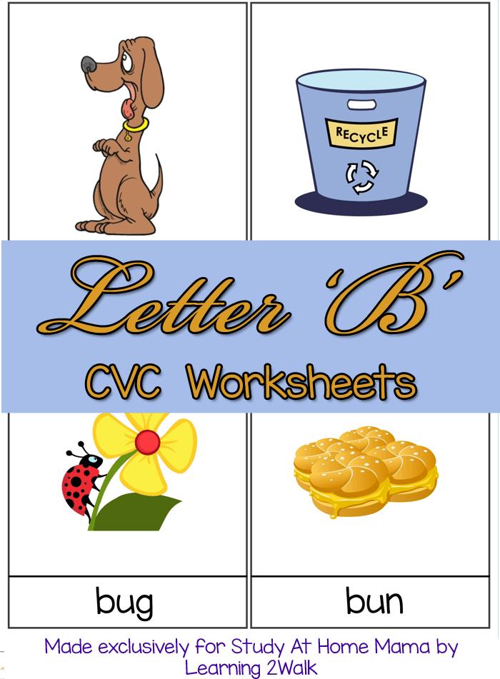 Cvc Worksheets B Cvc Words Sugar Spice And Glitter