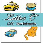CVC Worksheets: C CVC Words