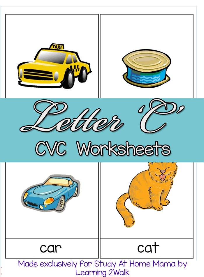 LETTER C CVC WORKSHEETS PIN