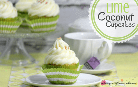 Lime Coconut Cupcakes - the perfect summer cupcake recipe.