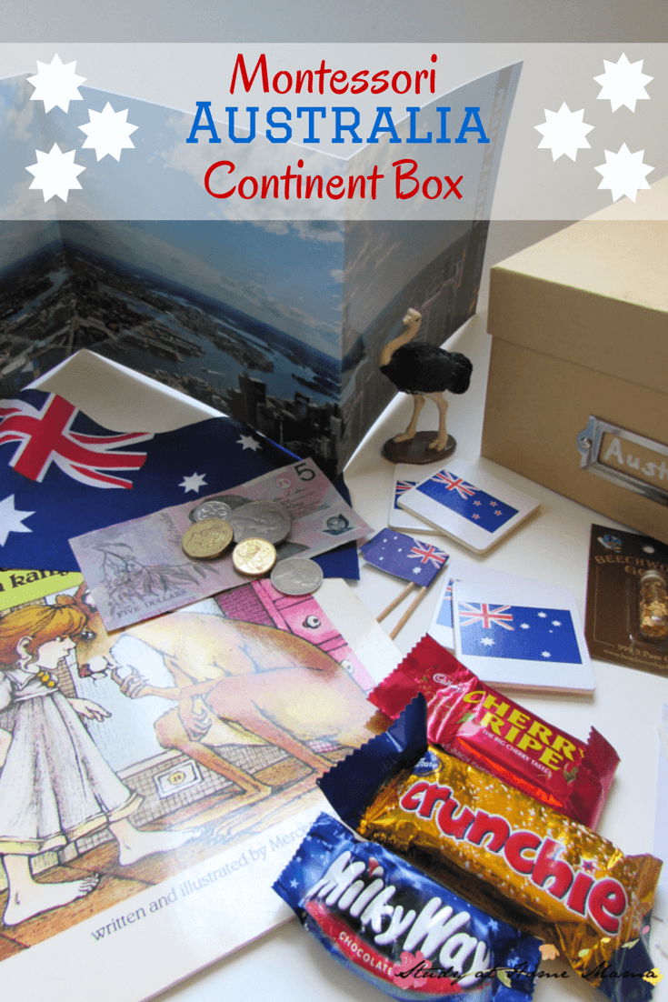 montessori geography for kids australia continent box