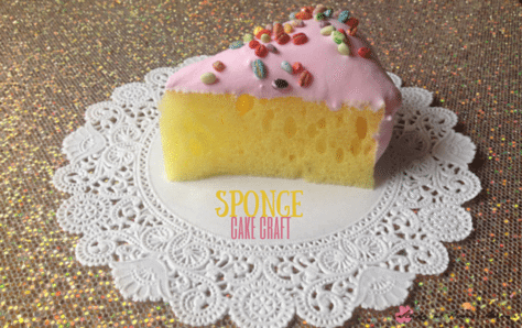 This Sponge Cake Craft is such a cute birthday craft idea for kids! Perfect for a tea party or unbirthday celebration - an easy craft for kids!