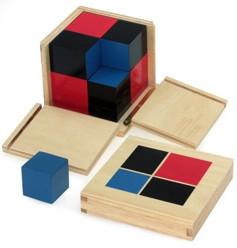 Binomial Cube - This Montessori teacher picks her top Montessori Sensorial materials for doing Montessori at home