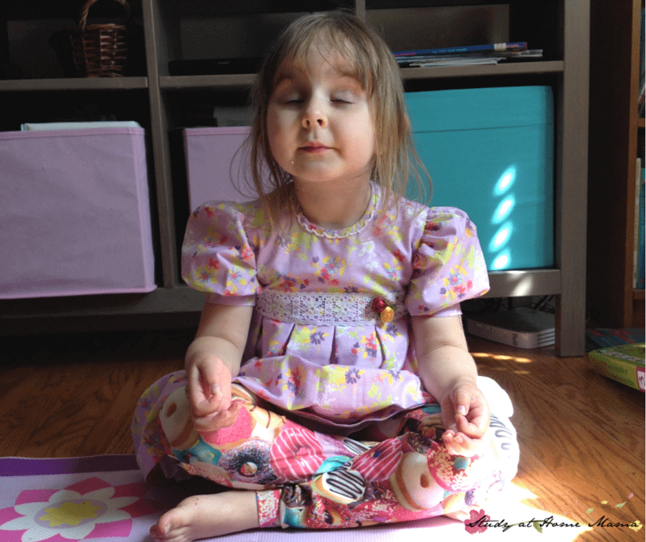 Lotus Pose: Part of a series of Flower Yoga Poses for Kids