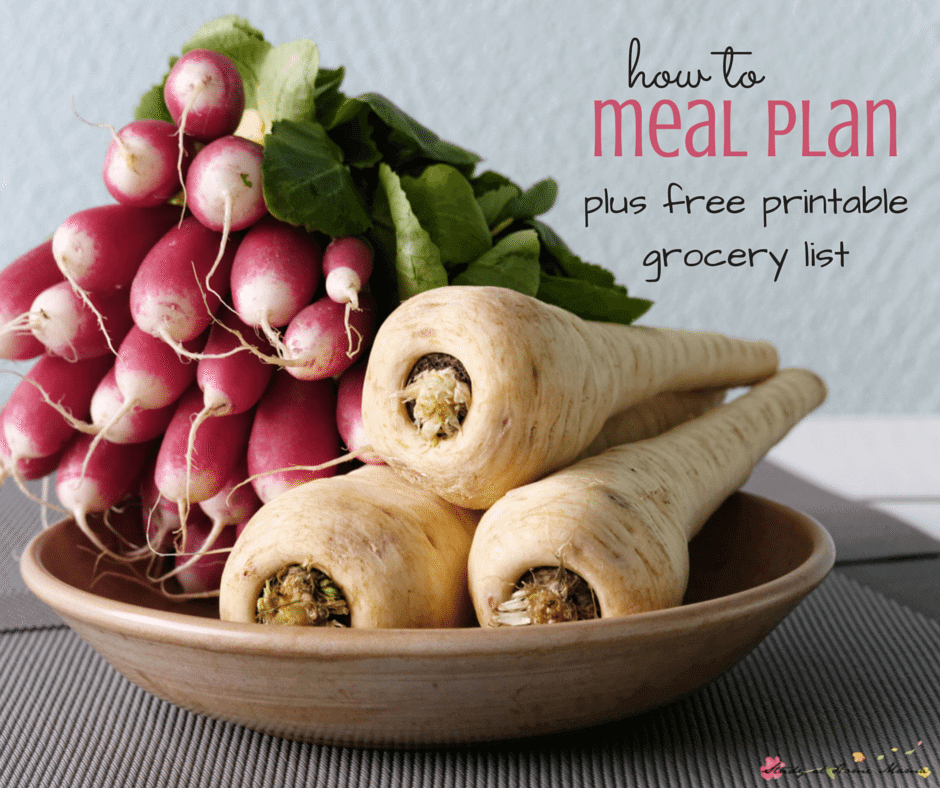 How to Meal Plan: Easy Healthy Meal Plans made easy, plus a free printable grocery list