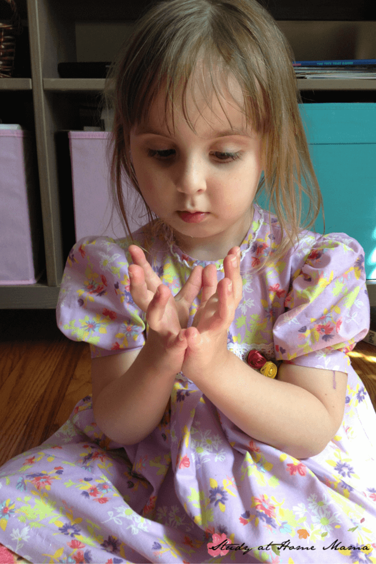 Lotus mudra: Part of a series of Flower Yoga for Kids