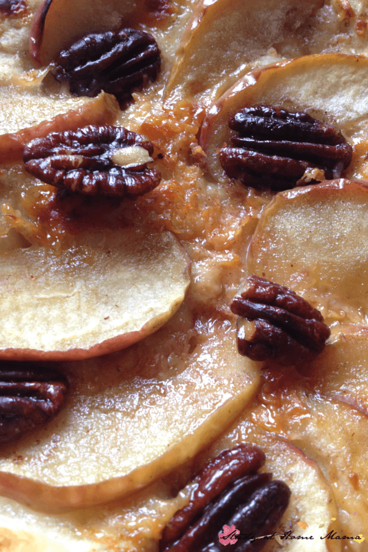 maple-glazed pecans, apple, and parmesan pizza - easy homemade pizza recipe