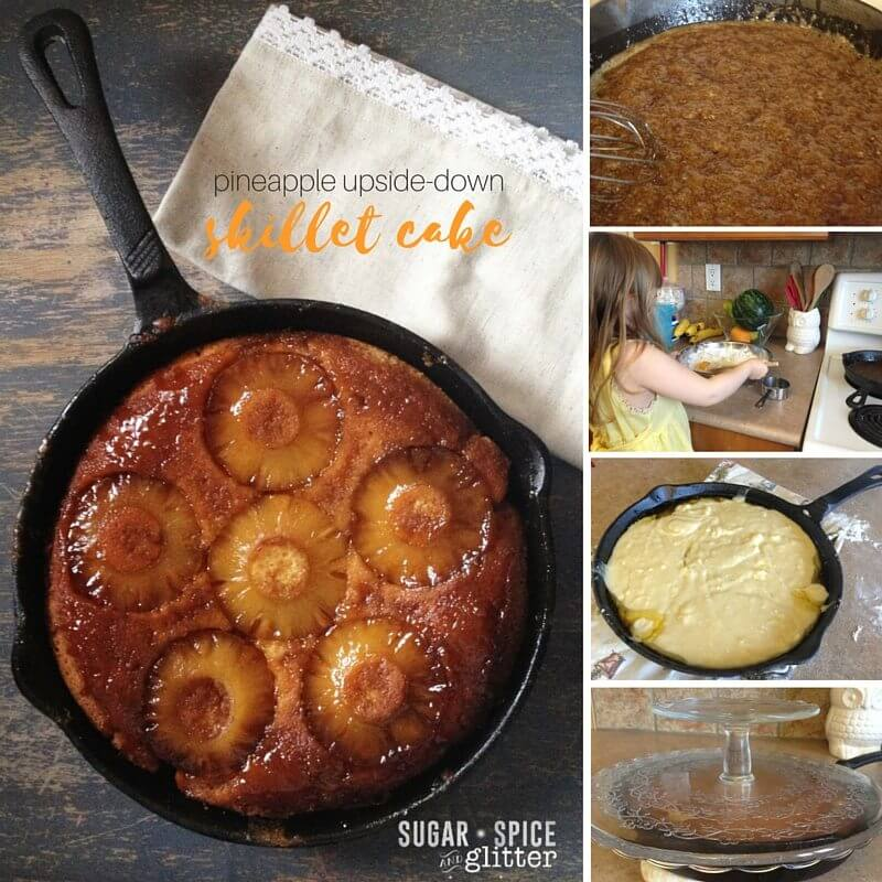 How to make a pineapple skillet cake - this recipe is so easy, kids can make it!