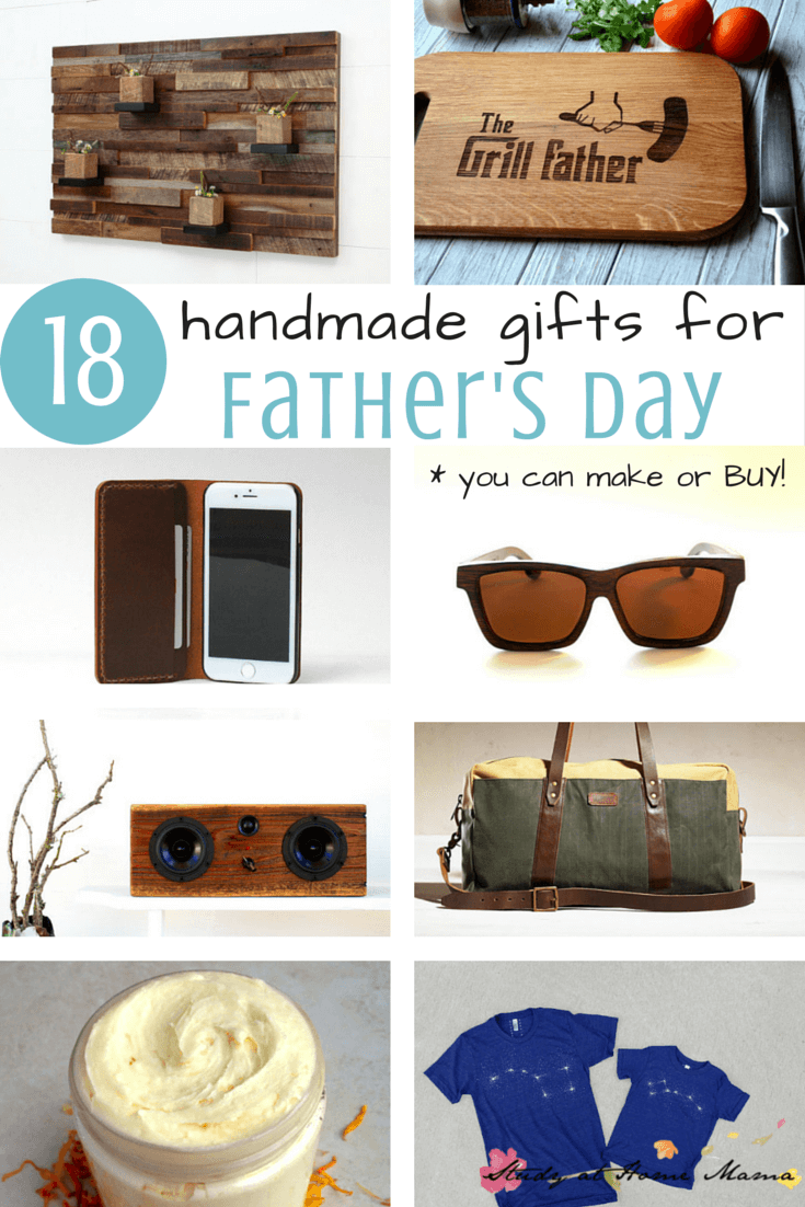18 HANDMADE GIFTS FOR FATHER'S DAY! Ideas for DIY father's day gifts you can make & cute handmade father's day gifts to buy if you're not crafty.