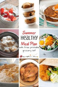 Summer Healthy Meal Plan