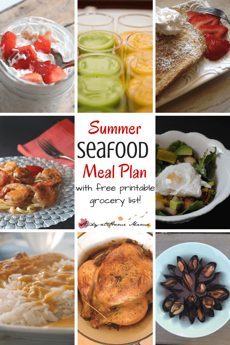 Summer Seafood Meal Plan - a great meal plan with variety and an emphasis on in-season, sustainable, and affordable seafood