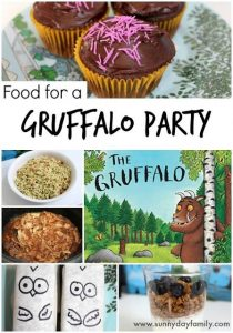 Gruffalo Party Food from Sunny Day Family
