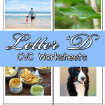 Letter D CVC Worksheets