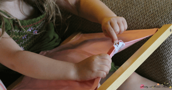 Teach Your Child how to do up Zippers with this easy Montessori Practical Life Lesson, part of a series