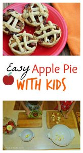 Easy Apple Pie with Kids from Child Led Life