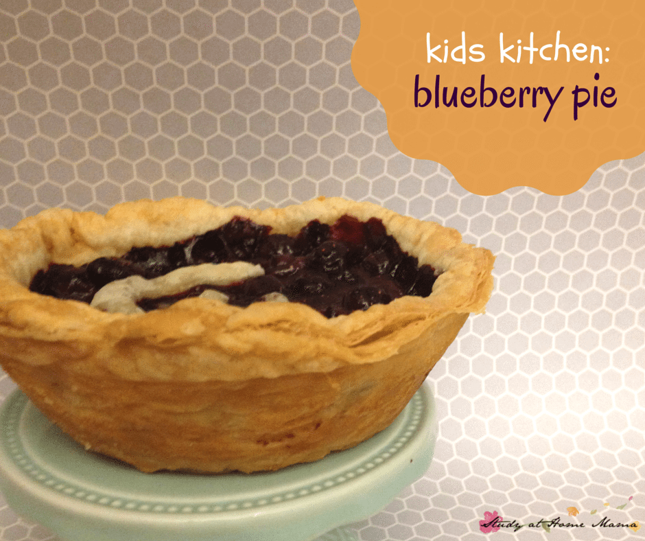Kids Kitchen: Double-crusted sugar-free blueberry pie recipe - an easy healthy recipe for kids to make from start to finish!